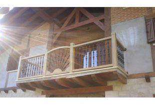 Barandilla madera exterior excellent escalera con zancas - Barandilla madera exterior ...